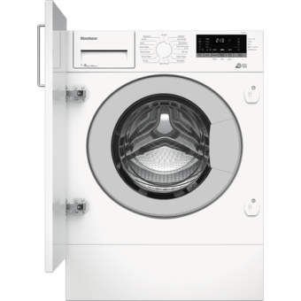 Blomberg LWI284410 8kg 1400 Spin Built In Washing Machine with Fast Full Load - White