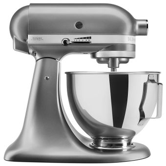 KitchenAid 5KSM95PSBCU Stand Mixer with Pouring Shield - Silver