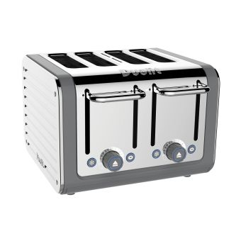 Dualit Architect 4 Slot Toaster 46526 - Grey & Stainless Steel