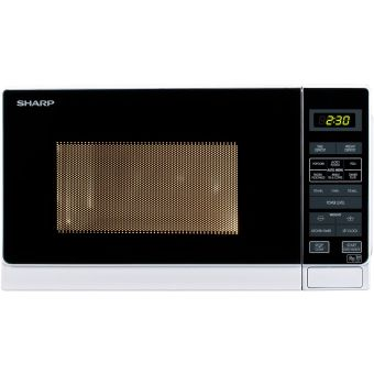 Sharp R272WM Solo Touch Control Microwave, 20 Litre capacity, 800W, White