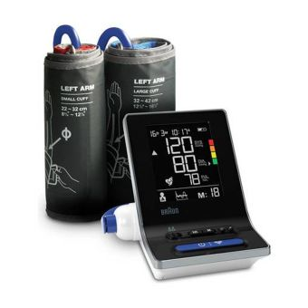 Braun BUA6150 ExactFit 3 Upper Arm Blood Pressure Monitor with 2 Cuff Sizes