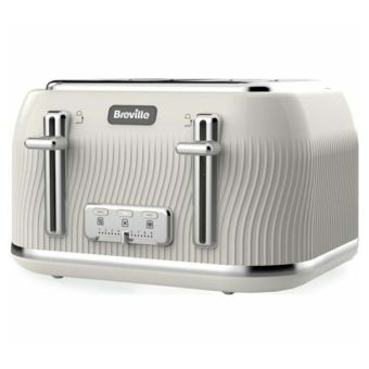 Breville Flow Collection 4-Slice Toaster - Cream