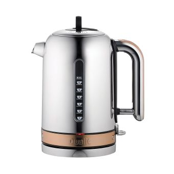 Dualit Classic Chrome Kettle With Copper Trim 72820