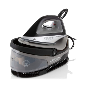 Tower T22006 CeraGlide Steam Generator Iron with Ceramic Soleplate, 2700 W, 1.5 Litre, Black