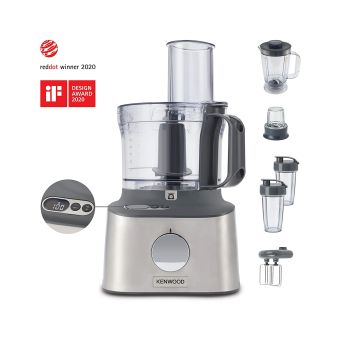 Kenwood Multipro Compact+ FDM312 SS Compact Food Processor - Stainless Steel
