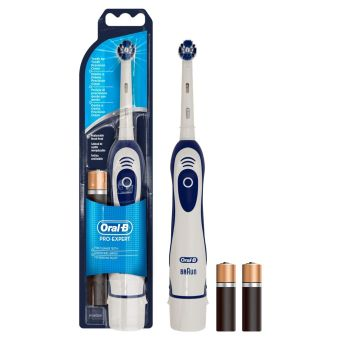 Oral-B Pro Expert Battery Powered Toothbrush - Blue & White