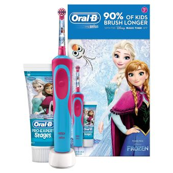Oral-B Stages Power Kids Electric Toothbrush, Frozen Gift Set - Blue/Pink