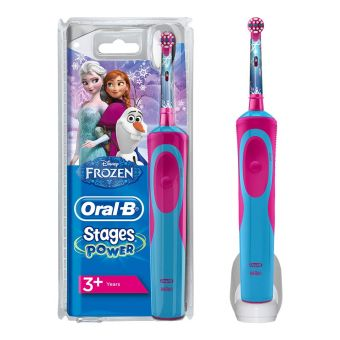 Oral-B Stages Power Kids Electric Toothbrush, Frozen Theme - Blue