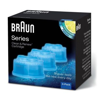 Braun CCR Clean&Charge Refill Cartidges, 3 Pack - Blue