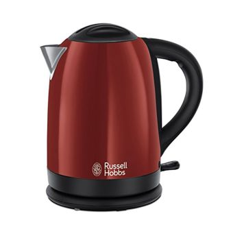Russell  RU-20092 Hobbs Dorchester Kettle - Polished Stainless Steel - Red