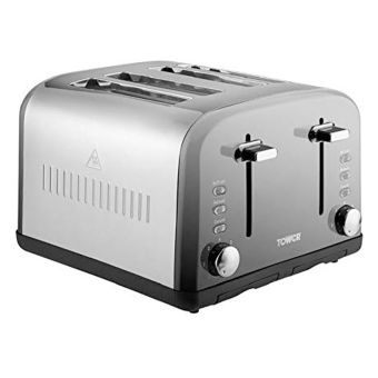 Tower T20015 Infinity 4-Slice Toaster -  Stainless Steel