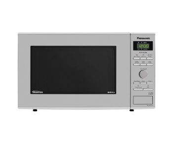 Panasonic NN-GD37HSBPQ Domestic Inverter Microwave Oven with Grill, 23L - Stainless Steel