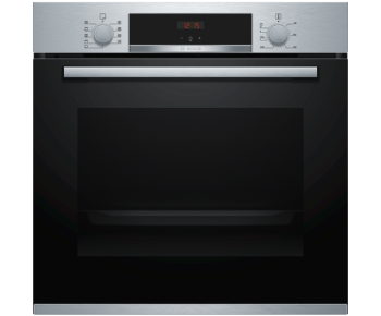 Bosch HBS534BS0B Built In Electric Single Oven with 3D Hot Air - Stainless Steel - A Rated