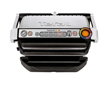 Tefal GC713D40 Stainless Steel OptiGrill Plus Health Grill , 2000 W - Silver