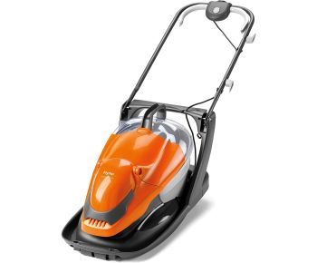 Flymo EasiGlide Plus 330V Hover Collect Lawn Mower - 1700W Motor, 33cm Cutting Width, 20 Litre Grass Box, Folds Flat, 10m Cable Length