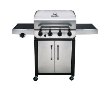 Char-Broil Convective Series 440S - 4 Burner Gas Barbecue Grill with Side-burner, Stainless Steel Finish