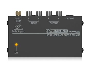 Behringer PP400 Microphono Ultra Compact Phono Preamp - Black
