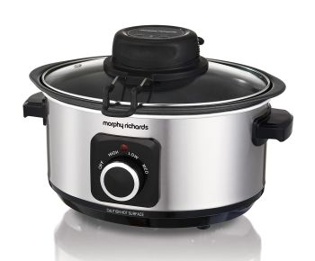 Morphy Richards 460009 Sear, Stew and Stir Slow Cooker - Silver