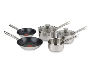 Tefal H054S544 Elementary 5-Piece Cookware Set - Stainless Steel