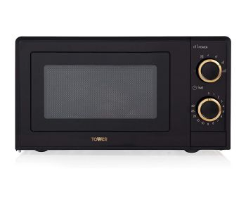 Tower T24029RG Manual Solo Microwave - Black & Rose Gold